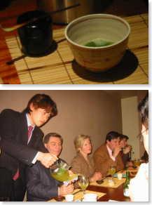 日本茶を入れる